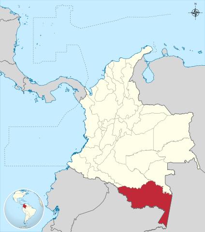 Ubicación del Departamento de Amazonas en Colombia