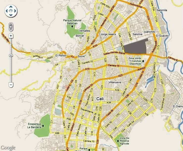 Santiago de cali limites y datos generales variedades for Barrio ciudad jardin sur bogota