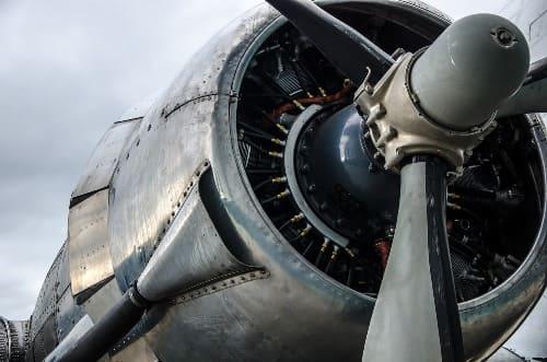 motor avión DC3
