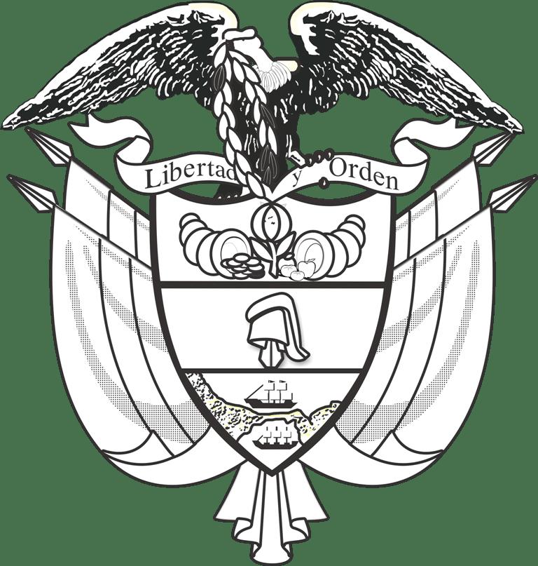 escudo de colombia para colorear vector en png