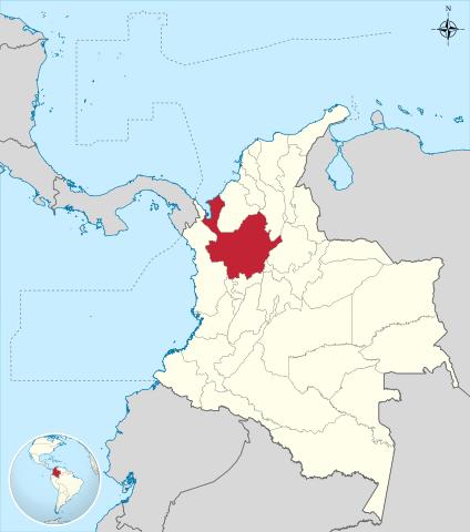 Ubicación del Departamento de Antioquia en Colombia