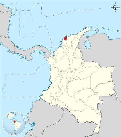Ubicación del Departamento de Atlántico en Colombia