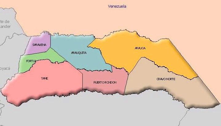 Mapa Departamento de Arauca