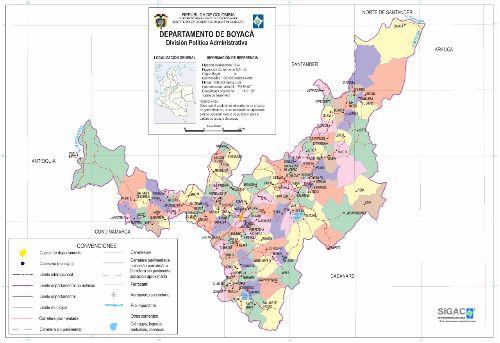 Departamento de Boyacá Mapa Completo