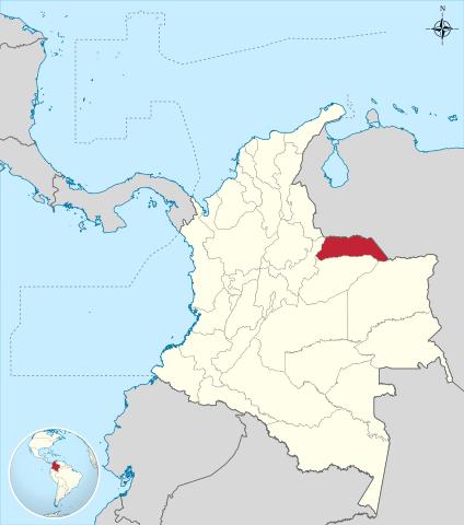 Ubicación del Departamento de Arauca en Colombia
