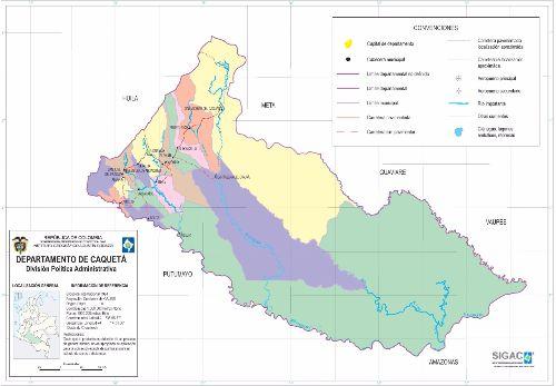 Departamento de Caquetá Mapa Completo
