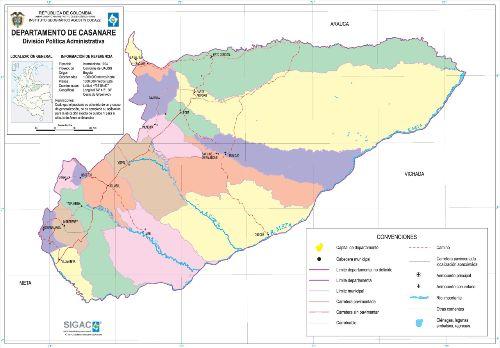 Departamento de Casanare Mapa Completo