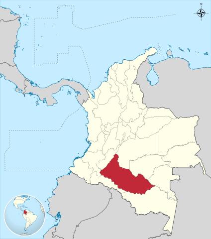 Ubicación del Departamento de Caquetá en Colombia