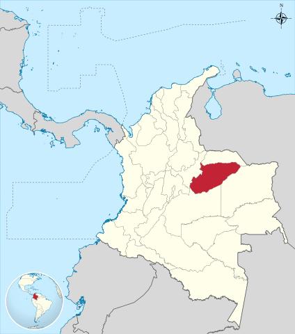 Ubicación Departamento de Casanare en Colombia