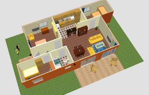 Planos Casa con Contenedores