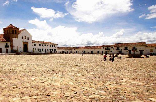 La plaza principal Villa de Leyva