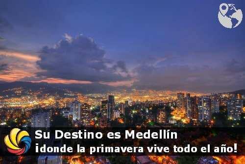 Atardecer en Medellín
