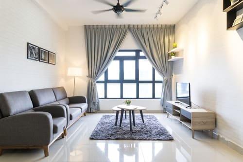 hogar sin divisiones y buena decoración