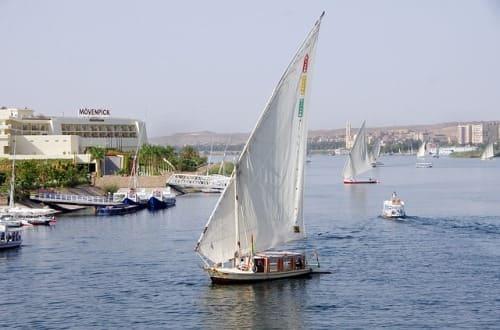 viajar en faluca por el Nilo