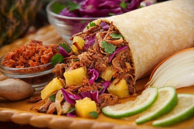 Tacos o burritos Comida de México